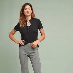 NWT Anthropologie Black Beale knit top